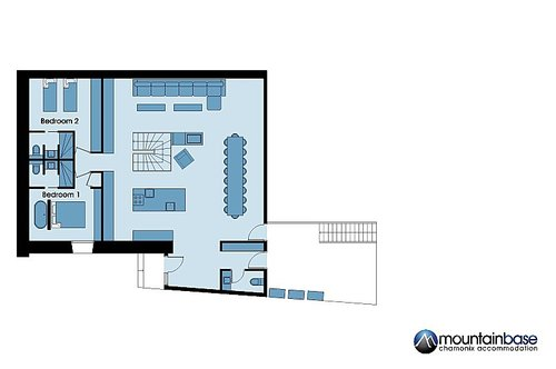 Chalet l'Orignal first floor plan