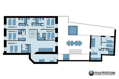 Chalet l'Orignal ground floor plan