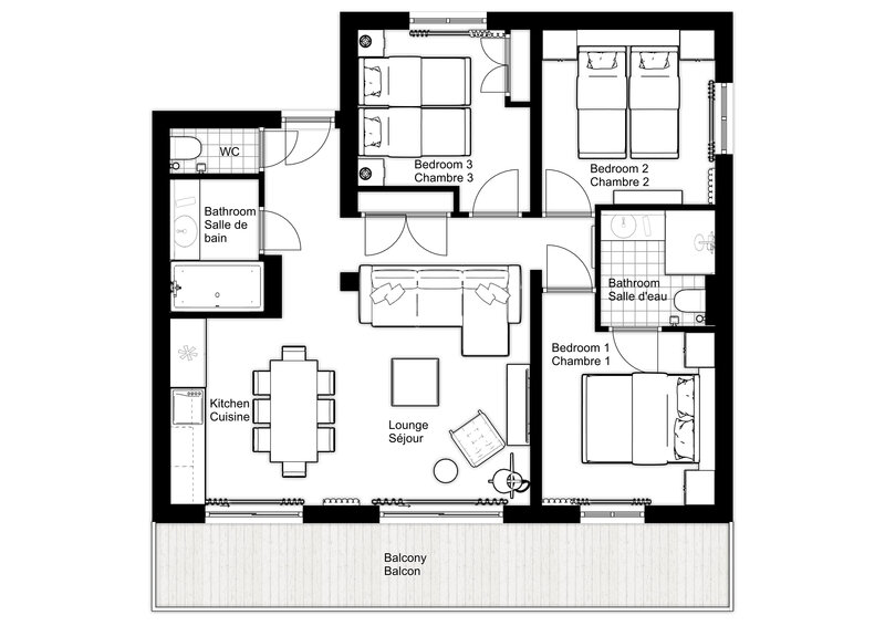 The floorplan for Blaitiere 6