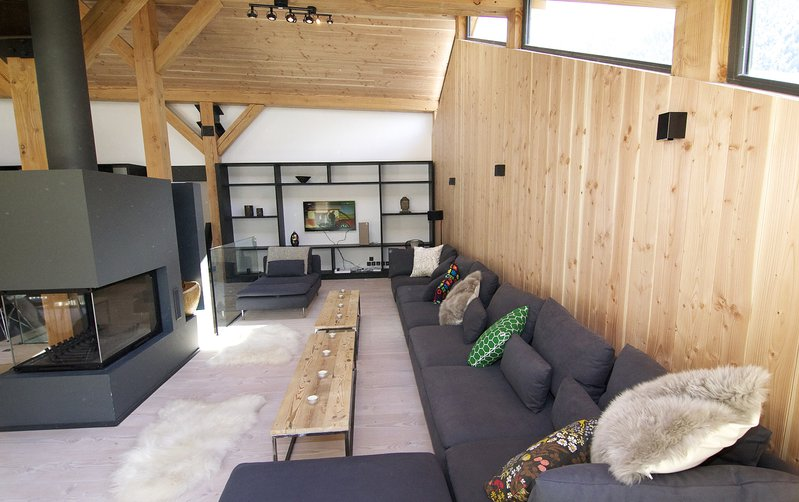 The large comfortable sitting area in the chalet